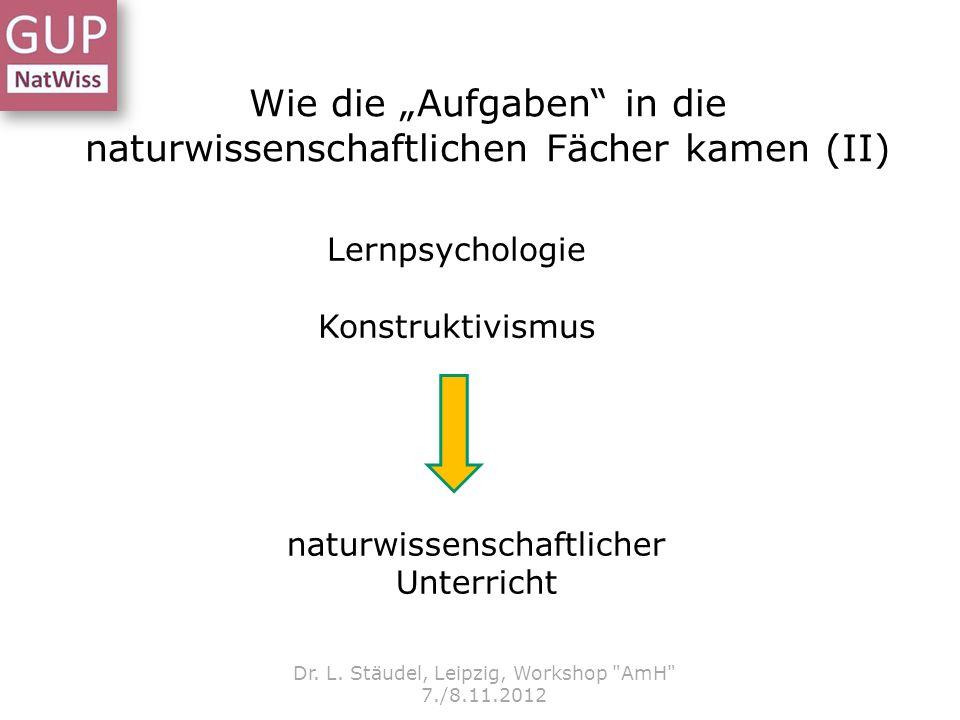 """Wie die """"Aufgaben in die naturwissenschaftlichen Fächer kamen (II)"""