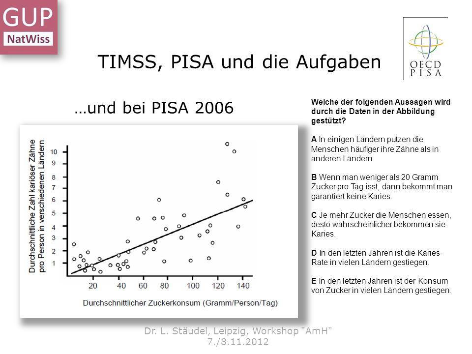 TIMSS, PISA und die Aufgaben