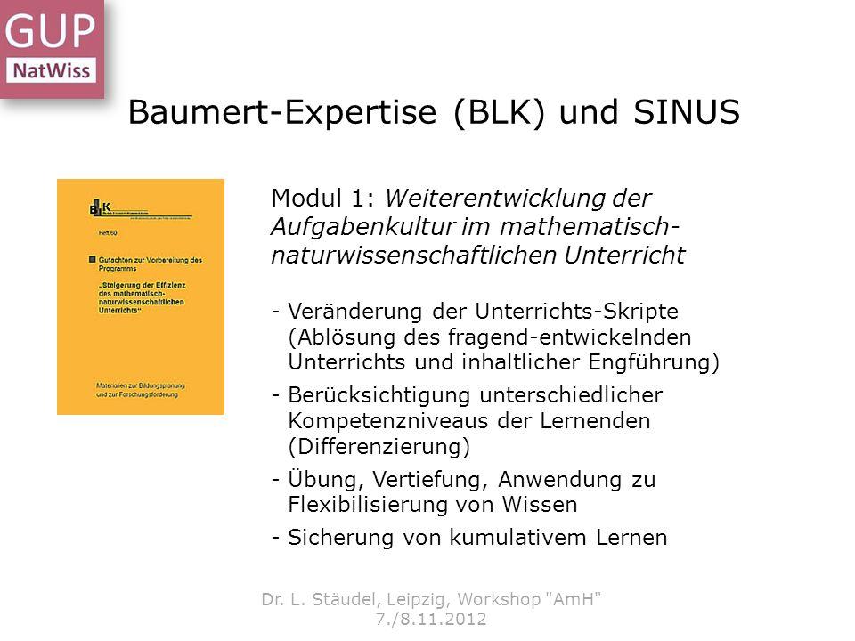 Baumert-Expertise (BLK) und SINUS