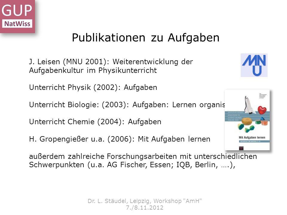 Publikationen zu Aufgaben