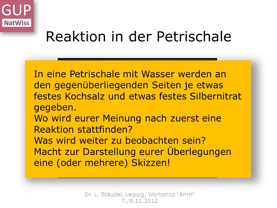 Reaktion in der Petrischale