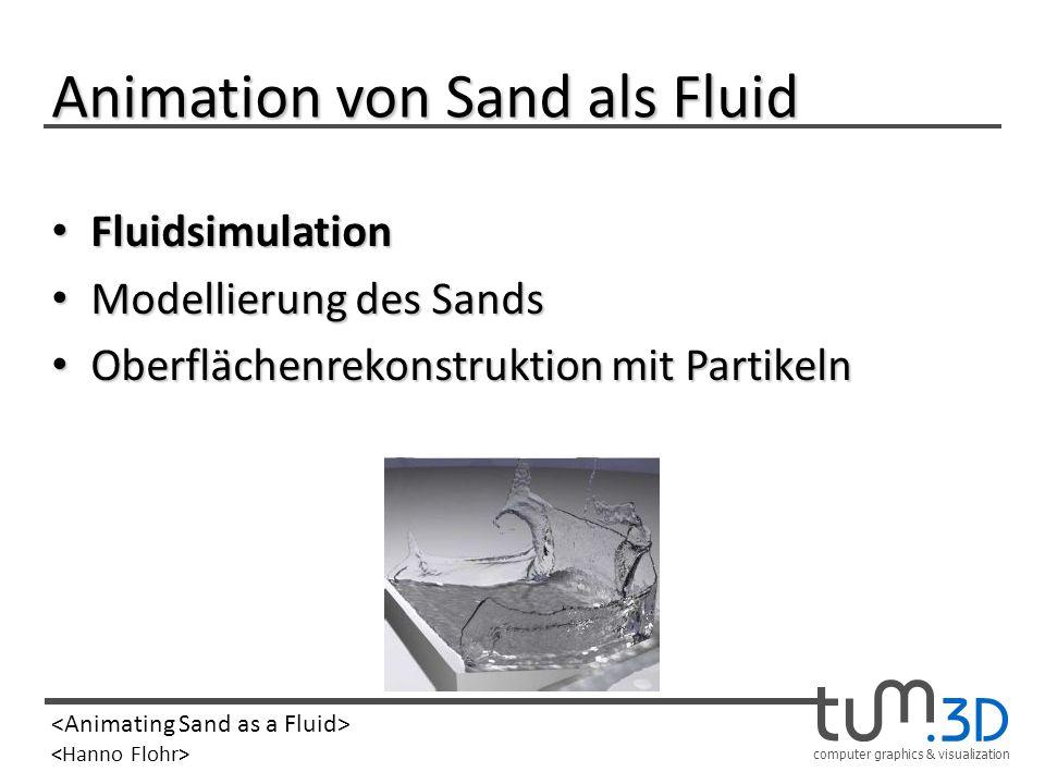 Animation von Sand als Fluid
