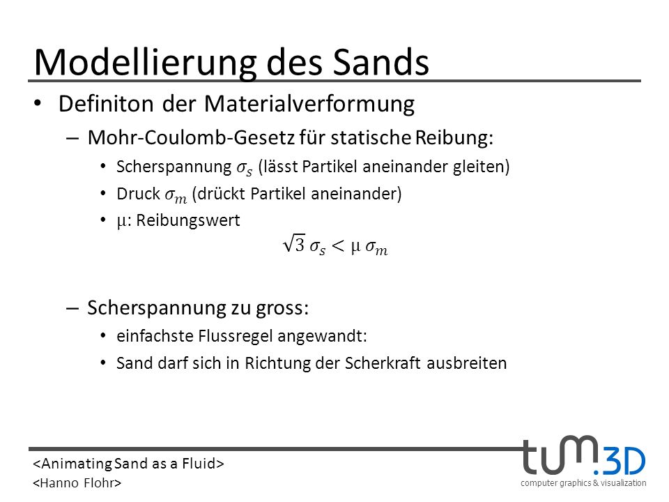 Modellierung des Sands
