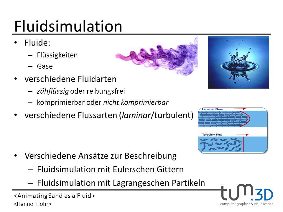 Fluidsimulation Fluide: verschiedene Fluidarten