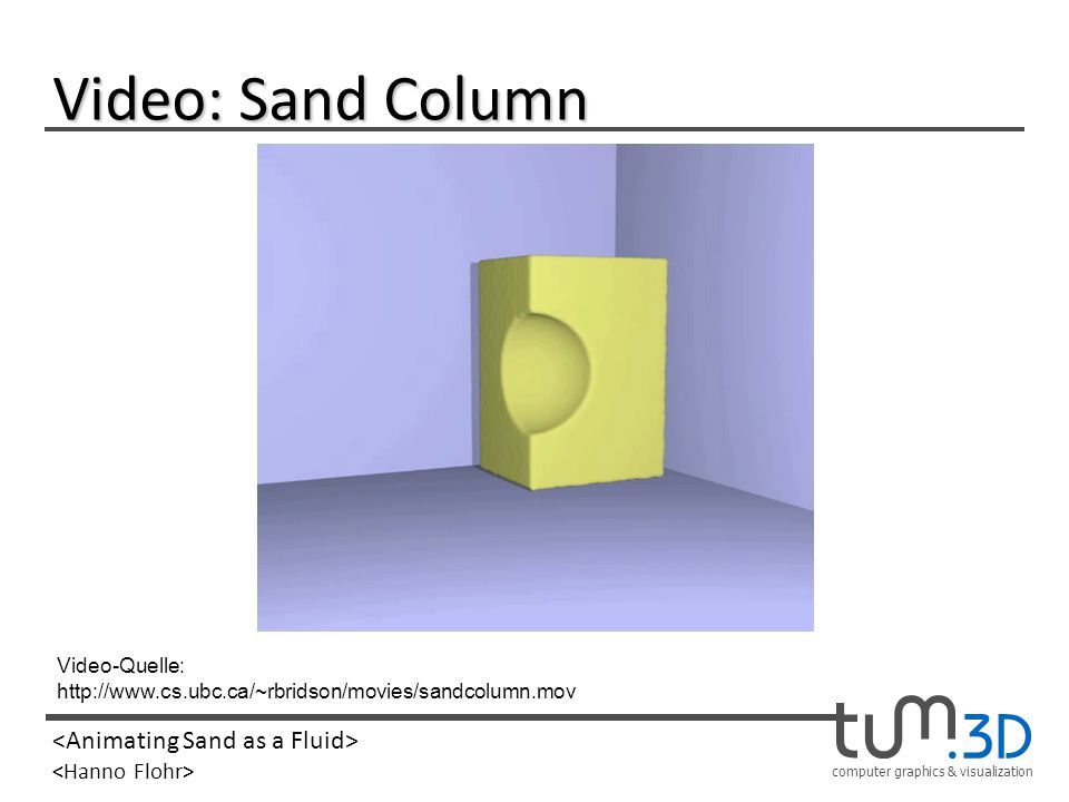 Video: Sand Column Video-Quelle:
