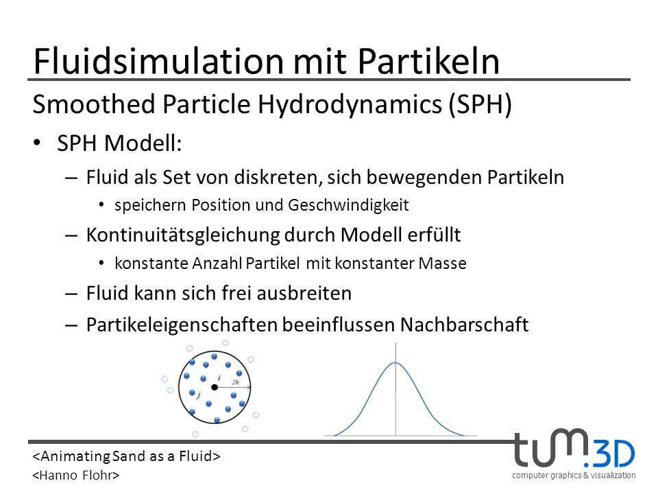 Fluidsimulation mit Partikeln