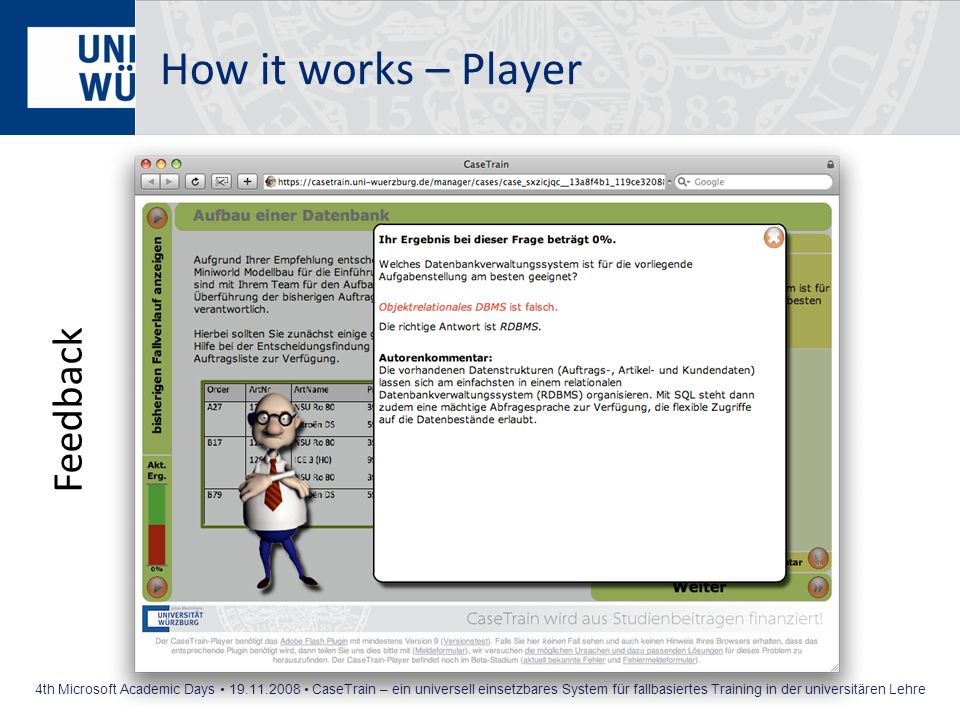 How it works – Player Feedback