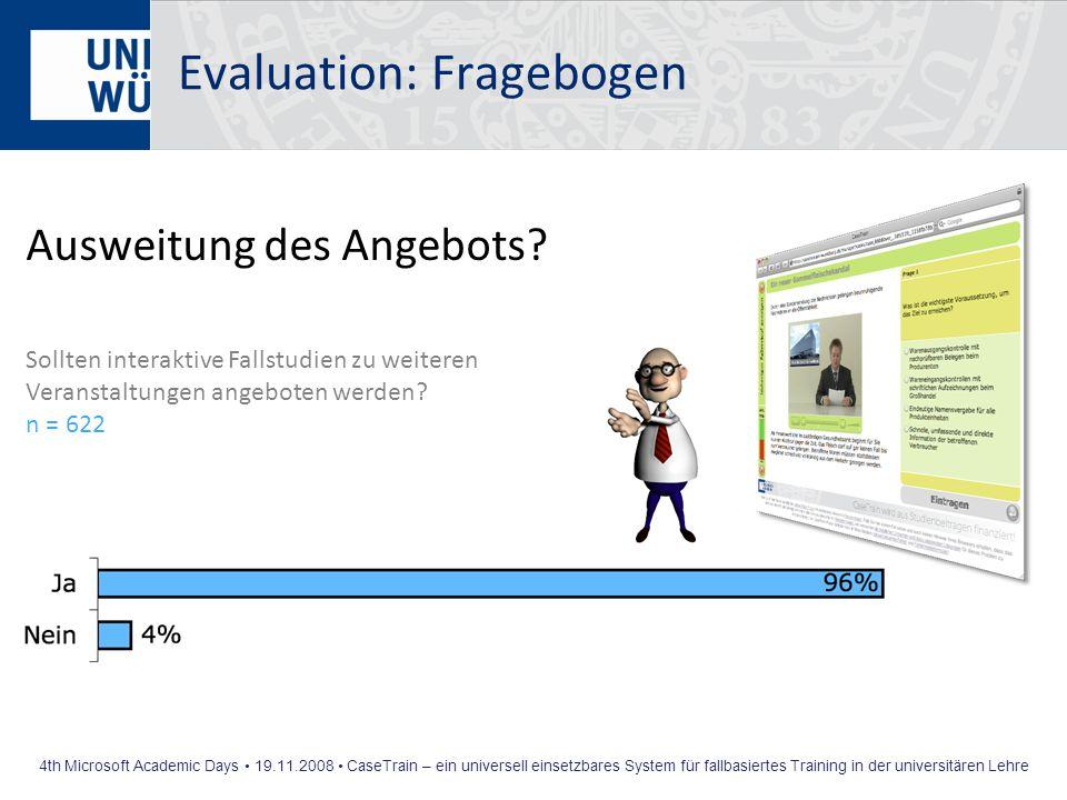Evaluation: Fragebogen