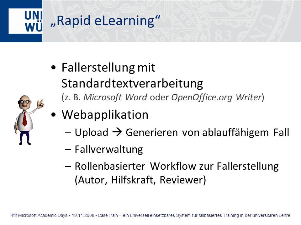 """Rapid eLearning Fallerstellung mit Standardtextverarbeitung (z. B. Microsoft Word oder OpenOffice.org Writer)"