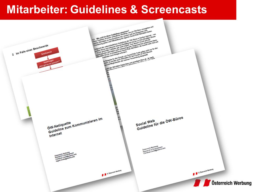 Mitarbeiter: Guidelines & Screencasts