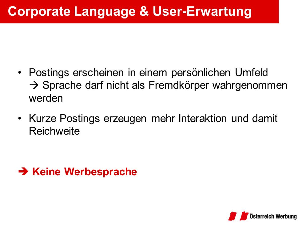 Corporate Language & User-Erwartung