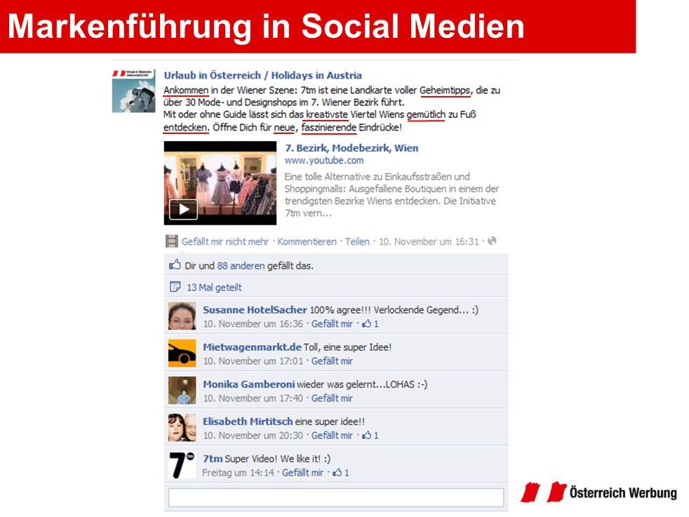 Markenführung in Social Medien