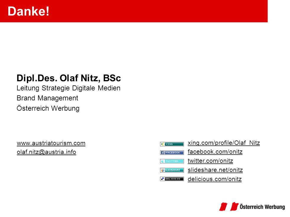 Danke! Dipl.Des. Olaf Nitz, BSc Leitung Strategie Digitale Medien