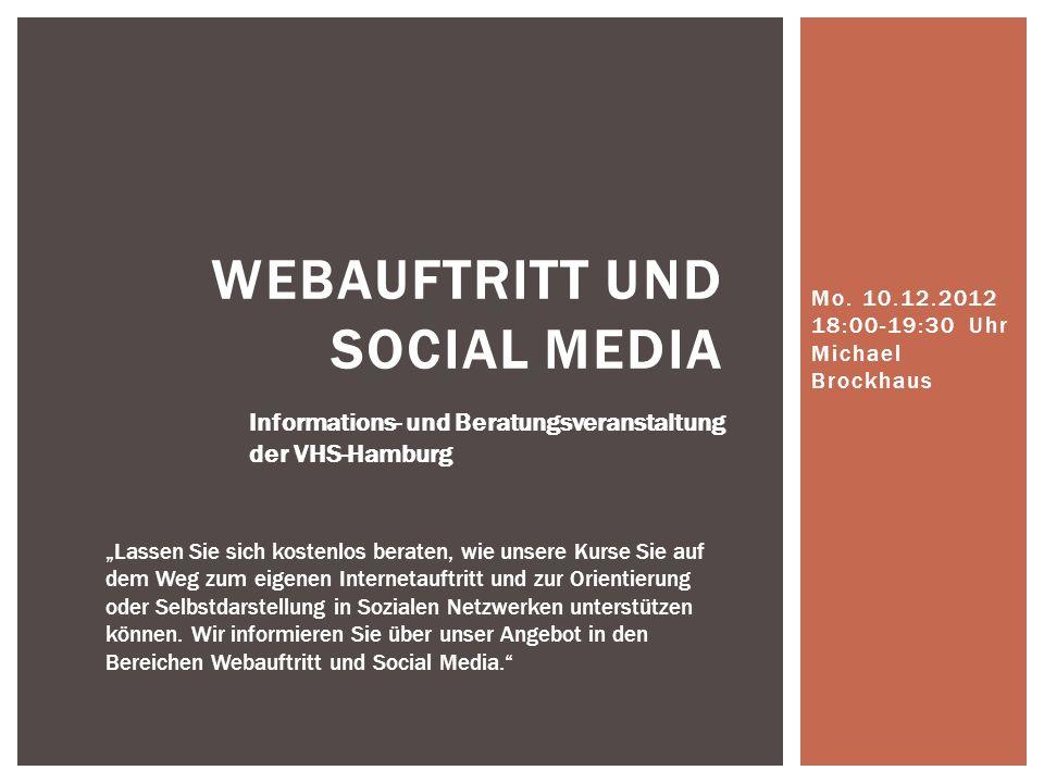 Webauftritt und Social Media