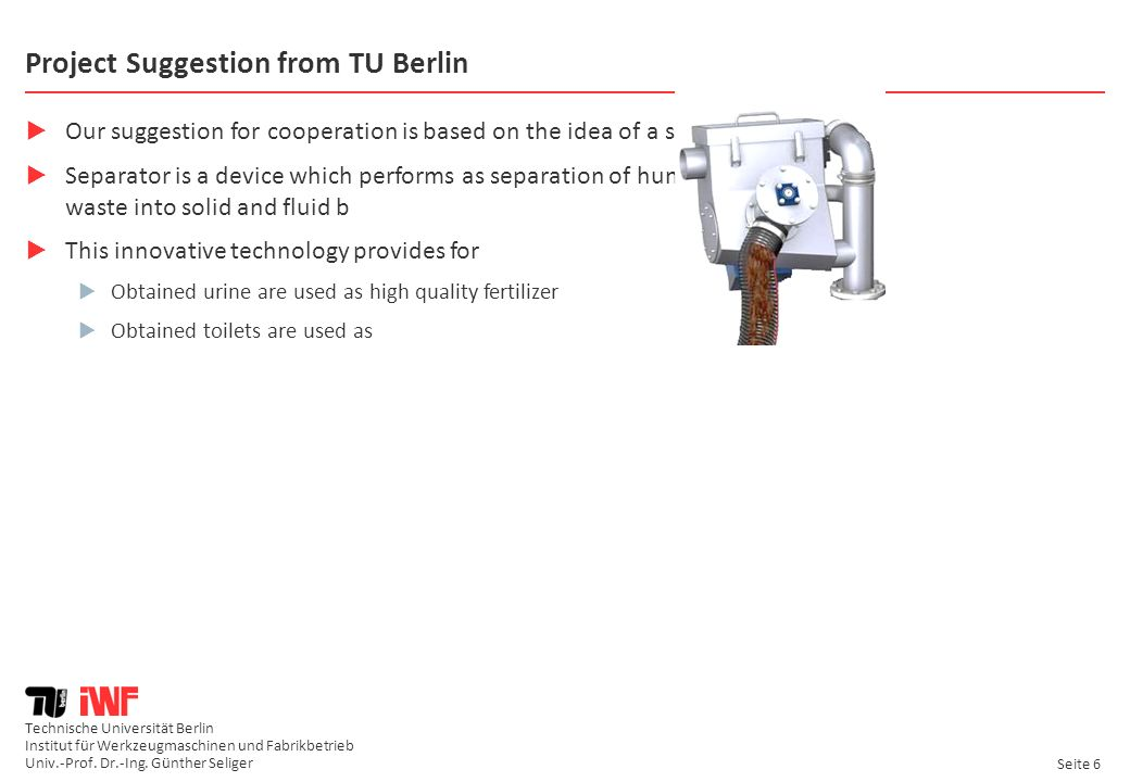 Project Suggestion from TU Berlin