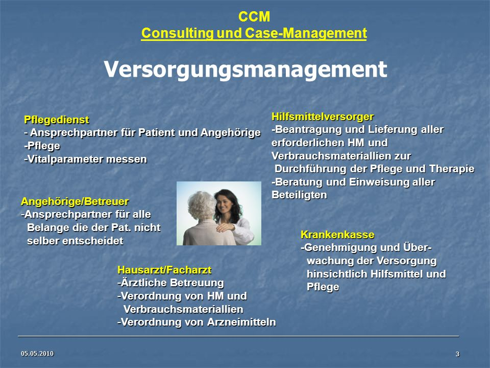 Consulting und Case-Management Versorgungsmanagement