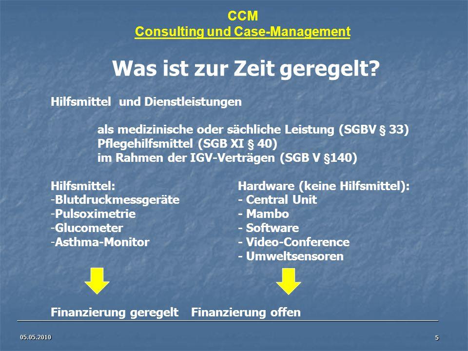 Consulting und Case-Management Was ist zur Zeit geregelt
