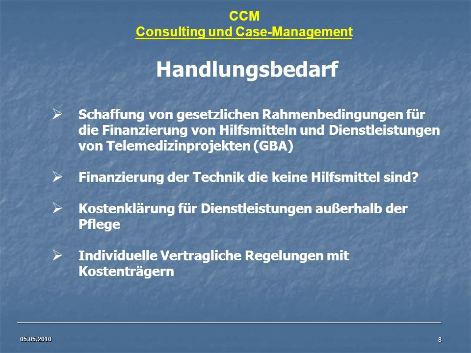 Consulting und Case-Management