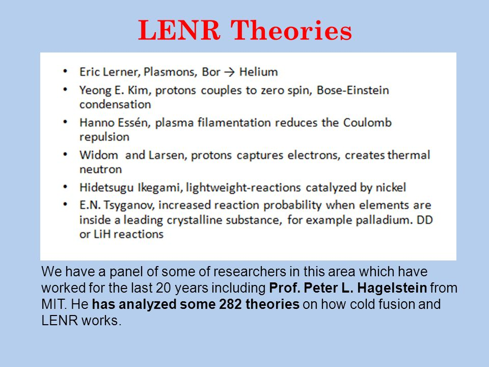 LENR Theories