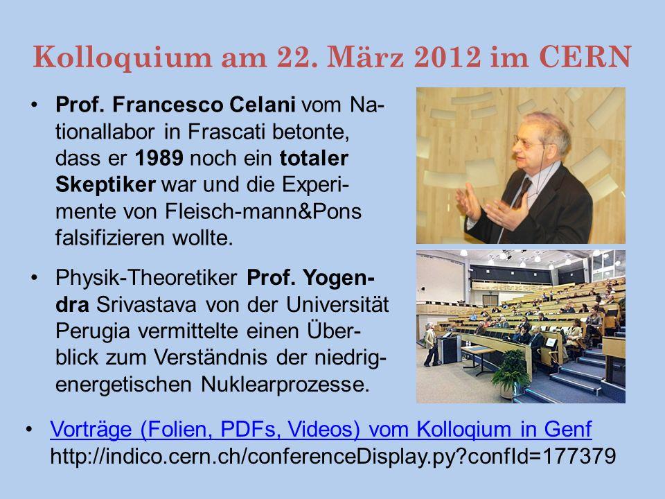 Kolloquium am 22. März 2012 im CERN