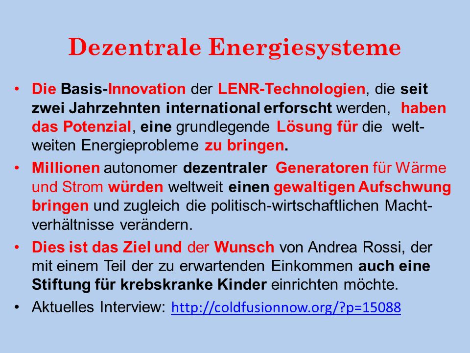 Dezentrale Energiesysteme
