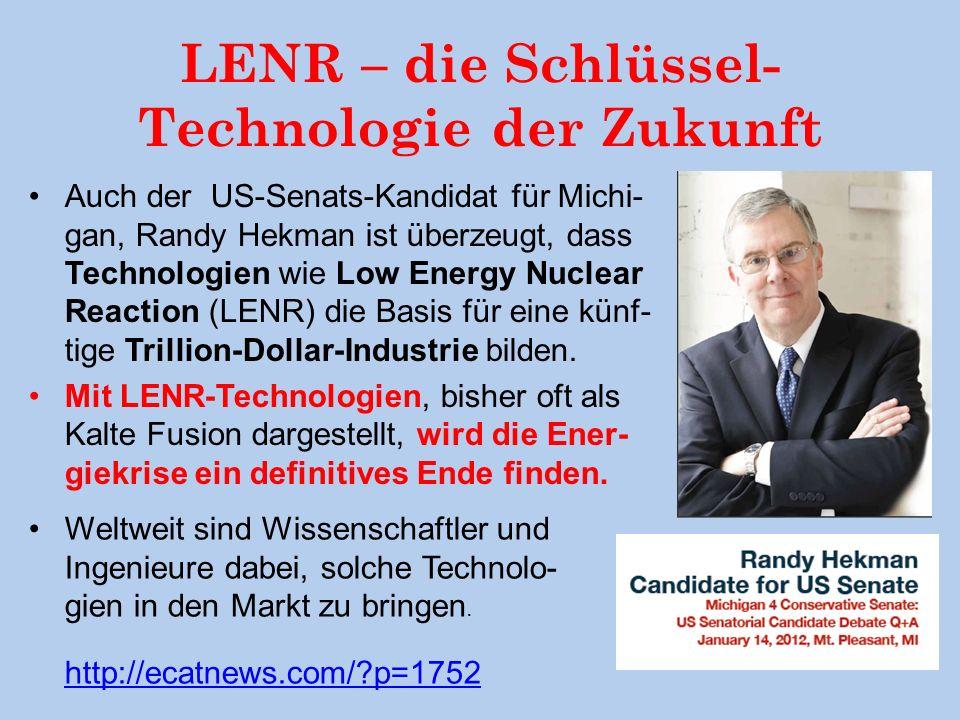 LENR – die Schlüssel-Technologie der Zukunft