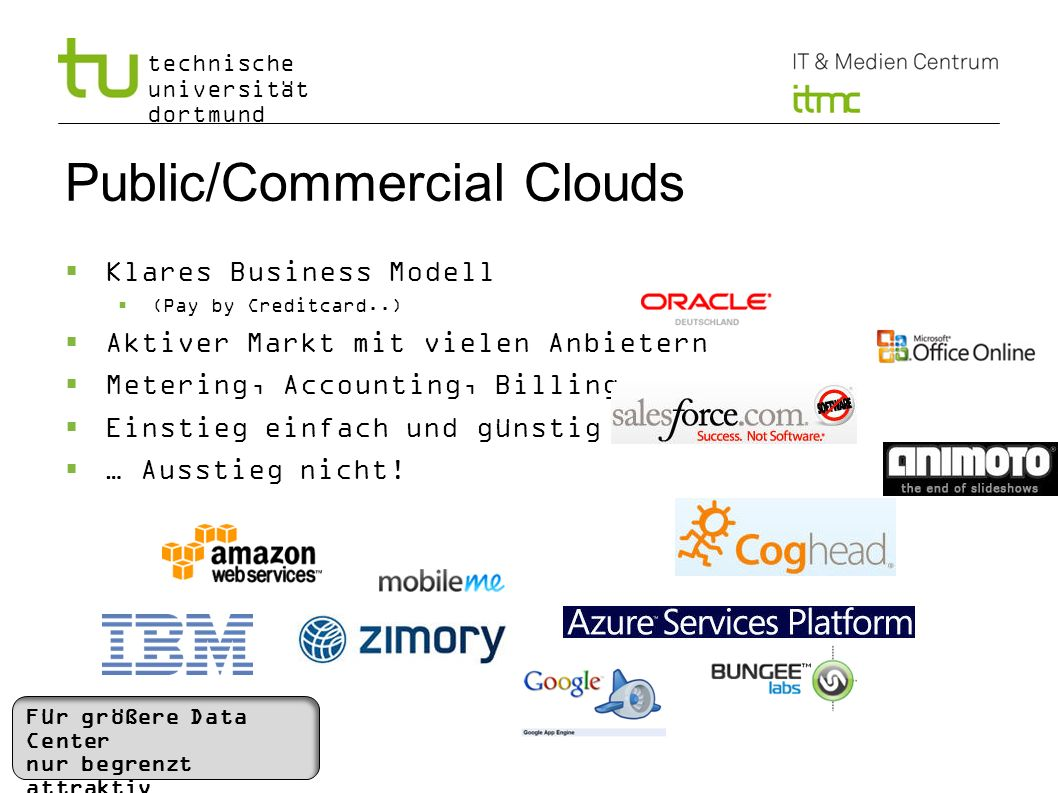 Public/Commercial Clouds