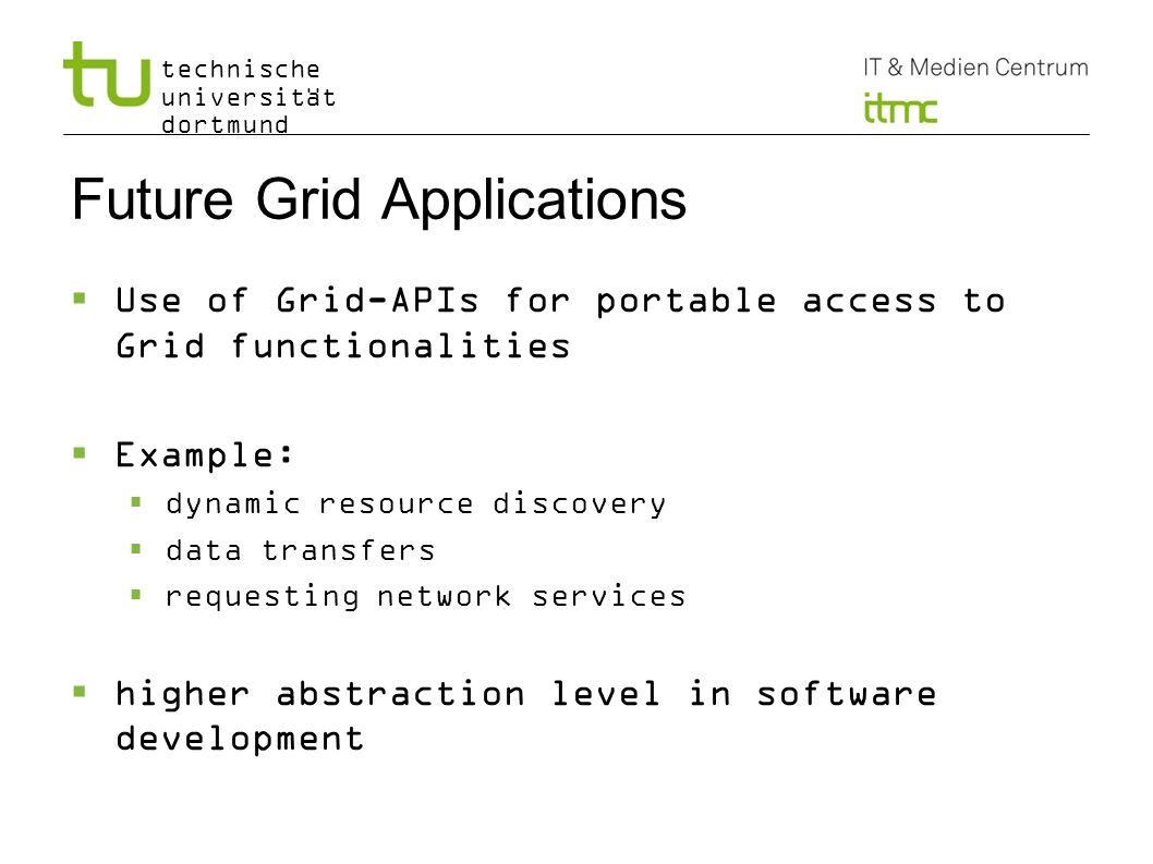 Future Grid Applications