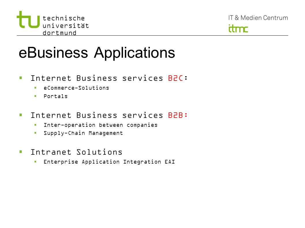 eBusiness Applications