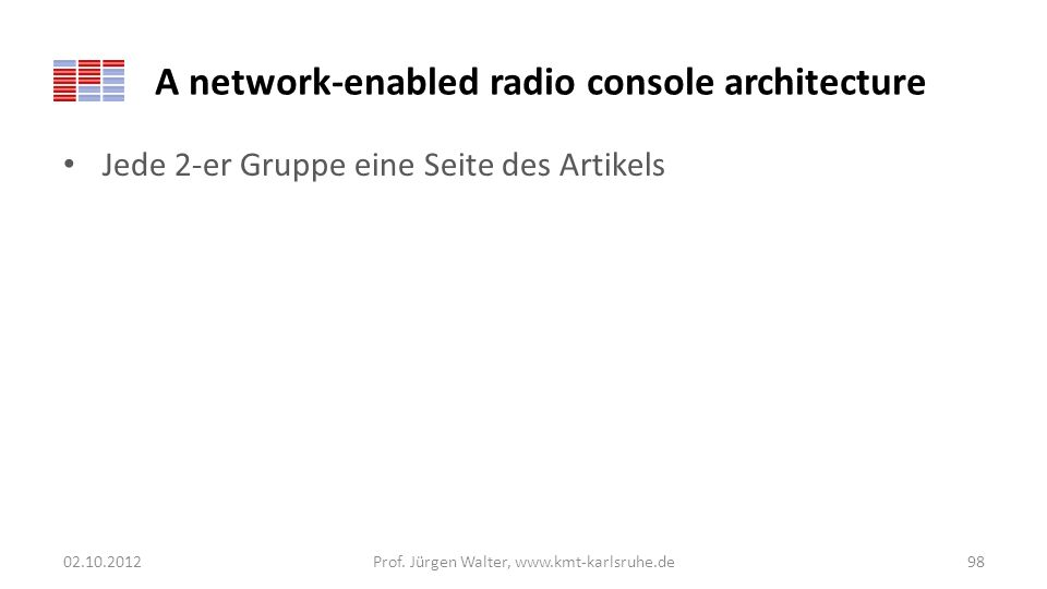 A network-enabled radio console architecture