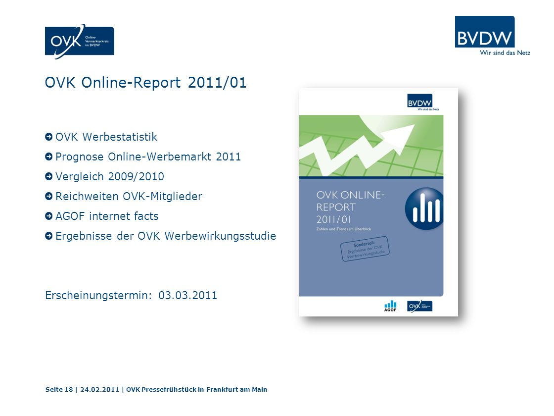 OVK Online-Report 2011/01 OVK Werbestatistik
