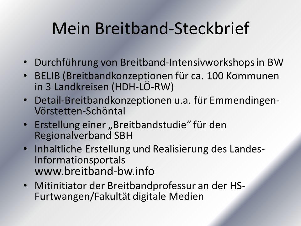 Mein Breitband-Steckbrief