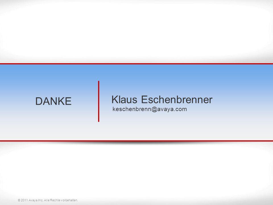 Klaus Eschenbrenner keschenbrenn@avaya.com
