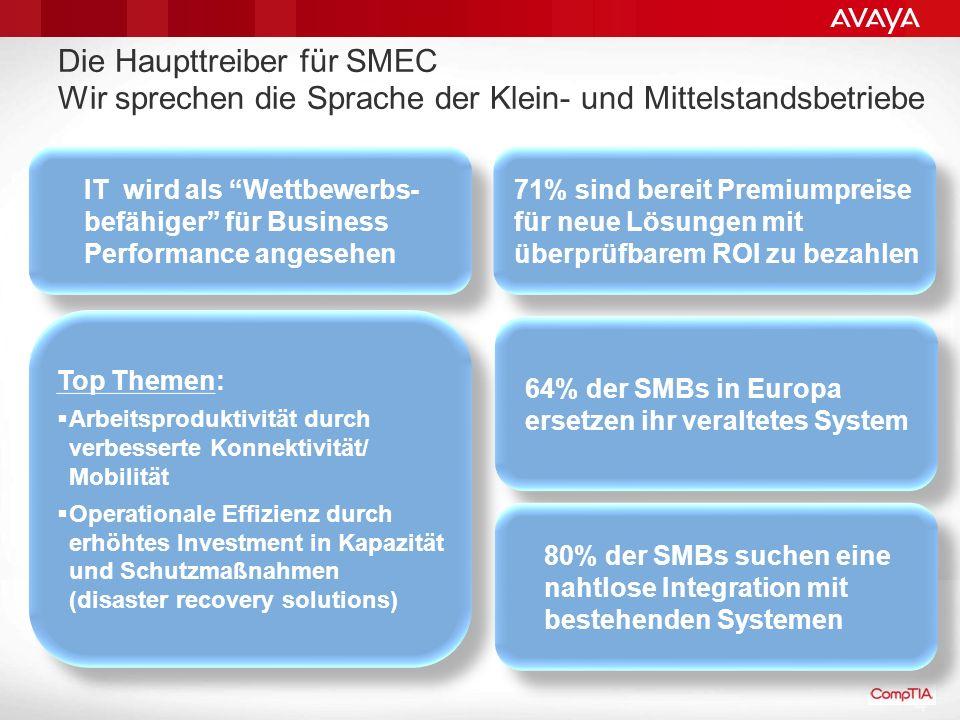 Die Haupttreiber für SMEC Wir sprechen die Sprache der Klein- und Mittelstandsbetriebe