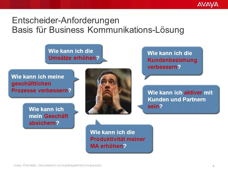 Entscheider-Anforderungen Basis für Business Kommunikations-Lösung
