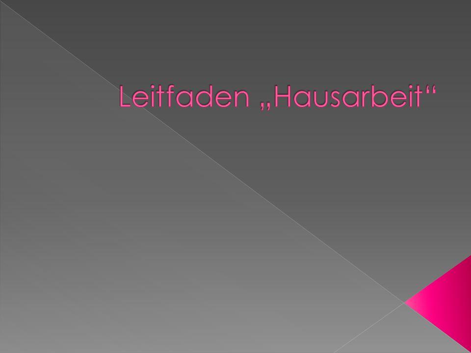 "Leitfaden ""Hausarbeit"