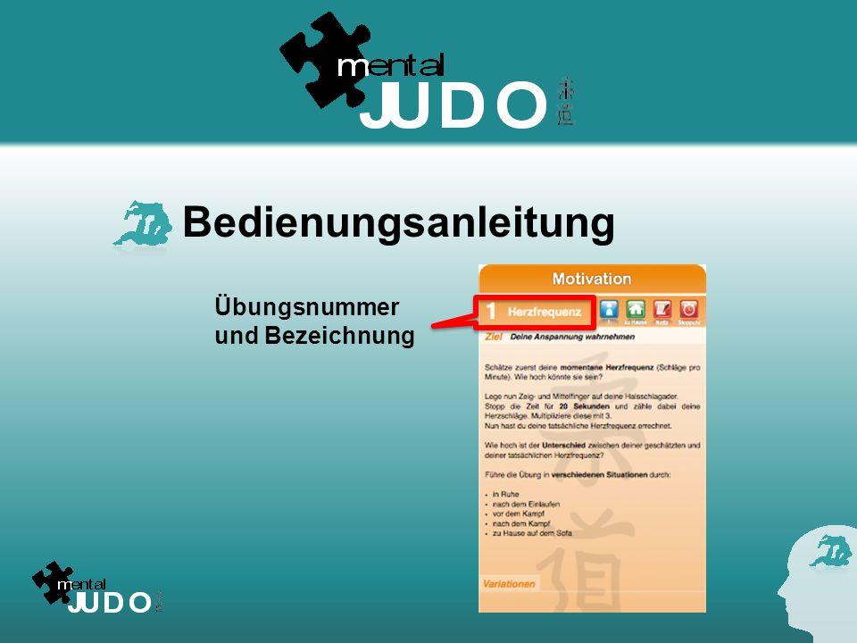 Bedienungsanleitung Übungsnummer und Bezeichnung