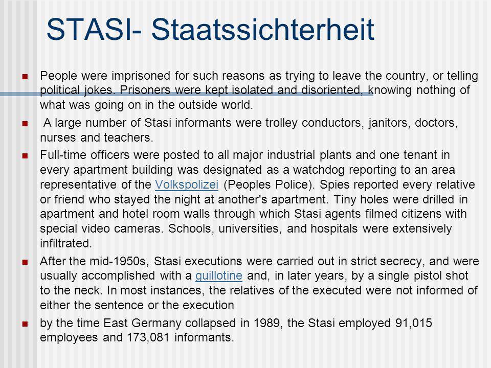 STASI- Staatssichterheit