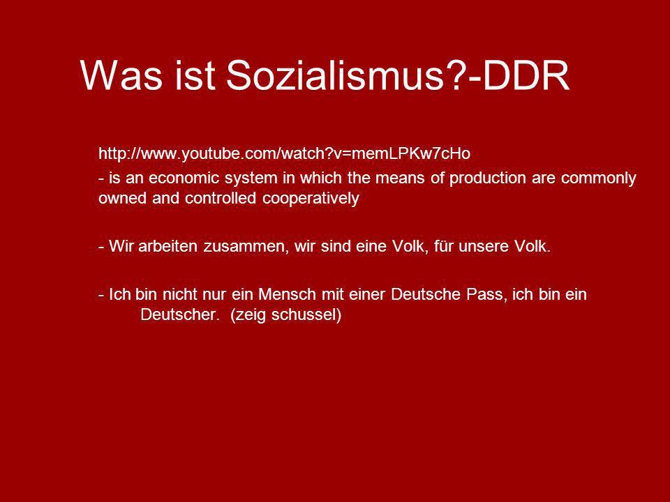 Was ist Sozialismus -DDR