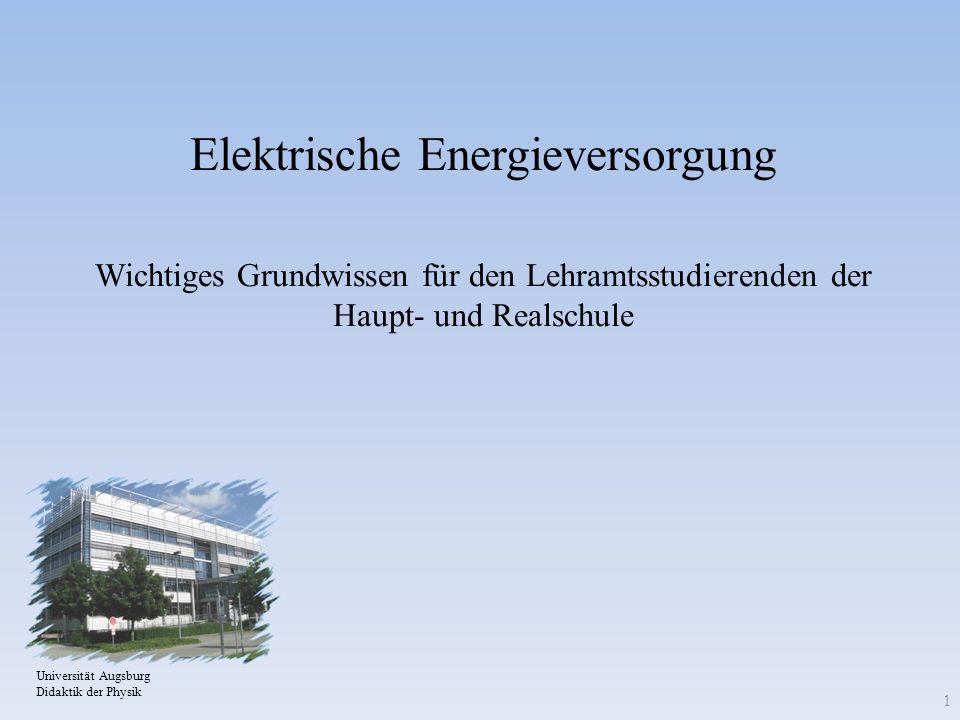 Elektrische Energieversorgung Wichtiges Grundwissen für den Lehramtsstudierenden der Haupt- und Realschule