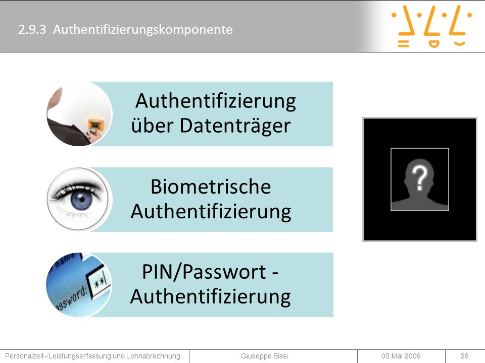 2.9.3 Authentifizierungskomponente