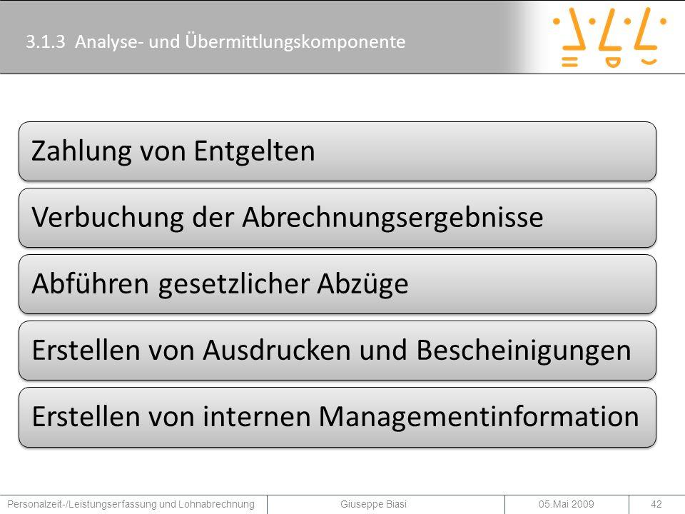 3.1.3 Analyse- und Übermittlungskomponente