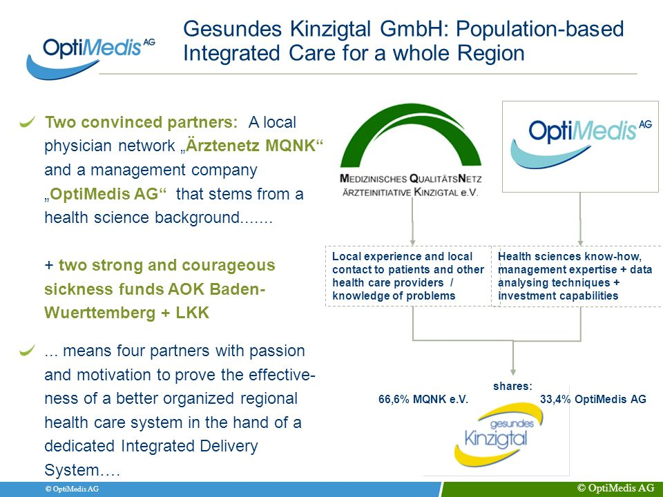 Gesundes Kinzigtal GmbH: Population-based Integrated Care for a whole Region