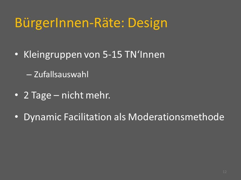 BürgerInnen-Räte: Design