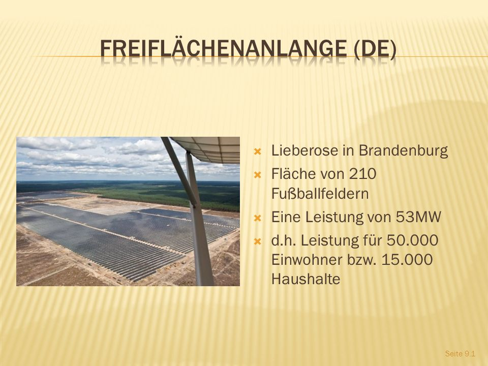 Freiflächenanlange (DE)