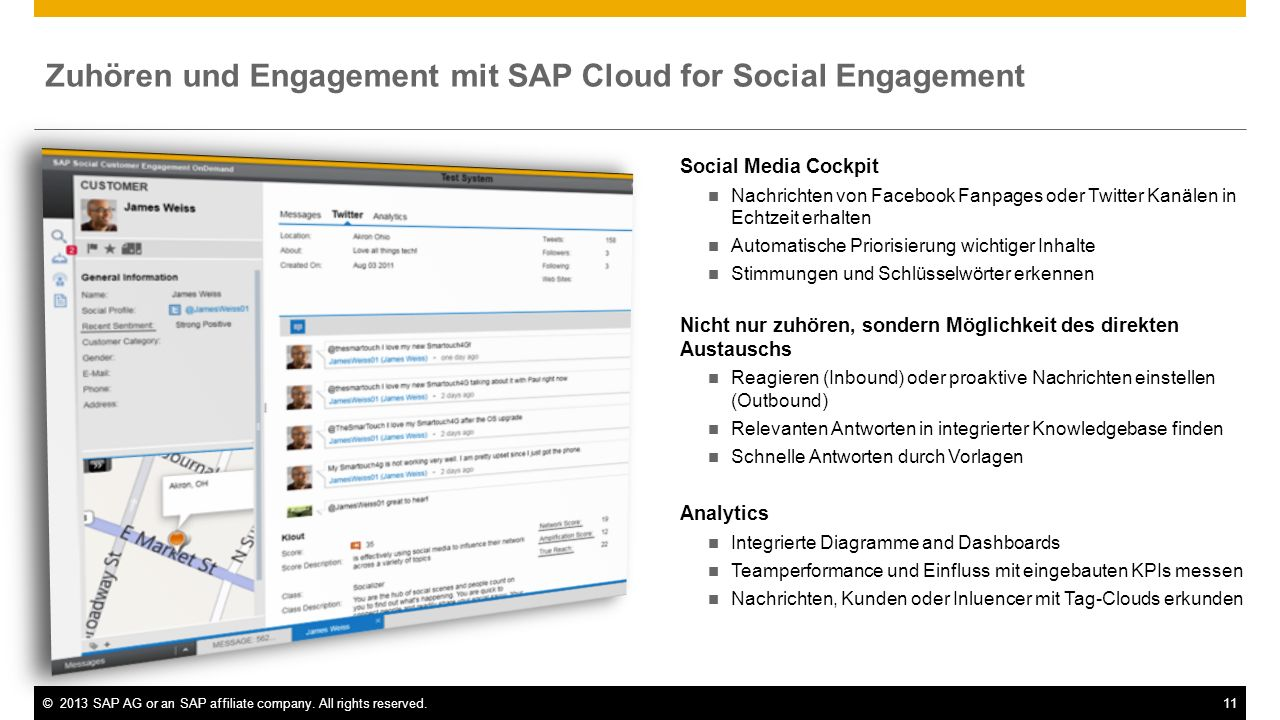 Zuhören und Engagement mit SAP Cloud for Social Engagement
