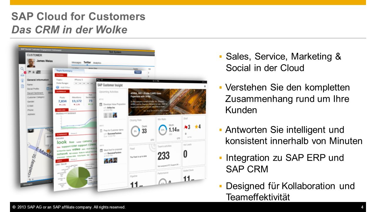 SAP Cloud for Customers Das CRM in der Wolke