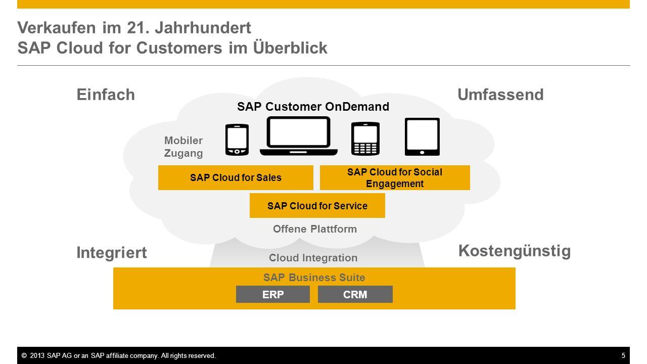 Verkaufen im 21. Jahrhundert SAP Cloud for Customers im Überblick