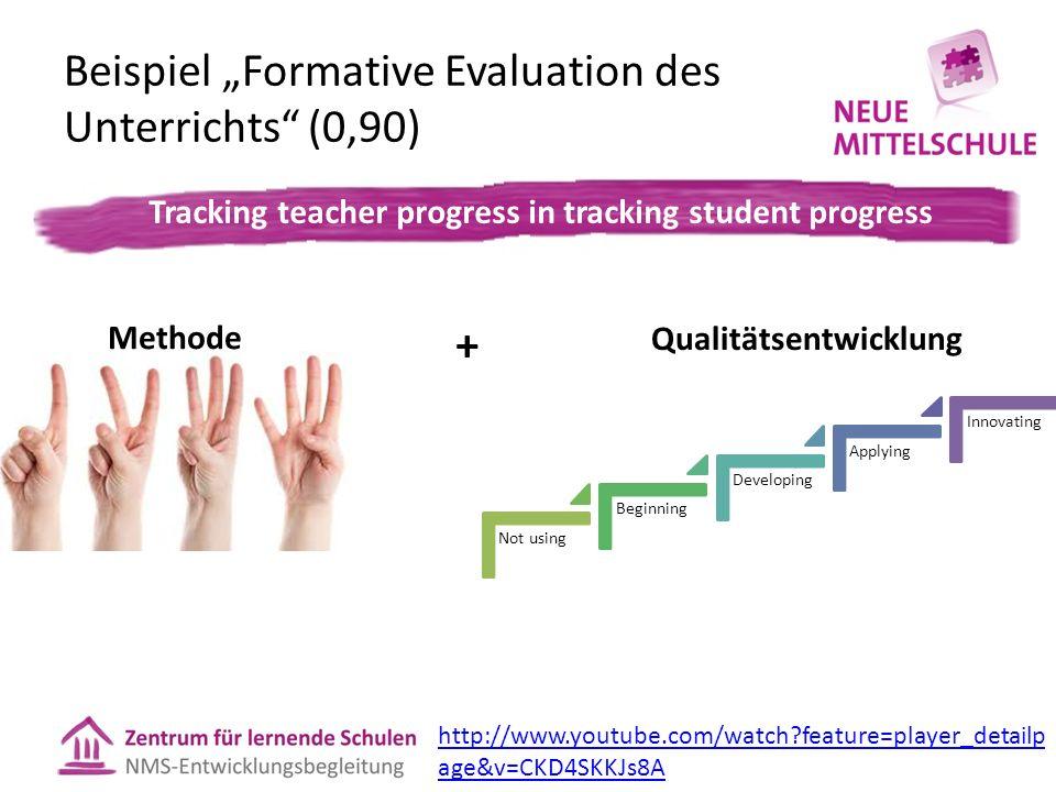 """Beispiel """"Formative Evaluation des Unterrichts (0,90)"""