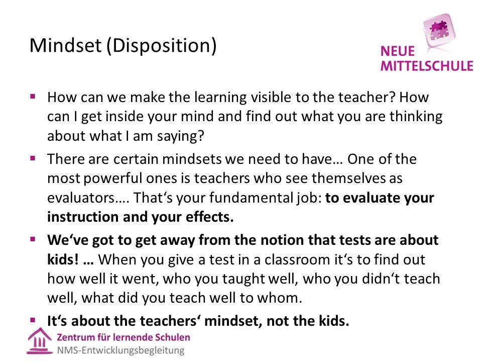 Mindset (Disposition)